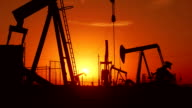 Oil wells at Sunrise video