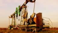 Oil wells (morning) video