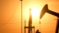 Oil wells With The Sun Rising video