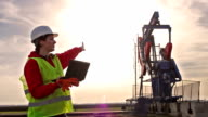 Oil worker and pump jack video