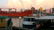 Oiltanker in downtown Willemstad 1 video
