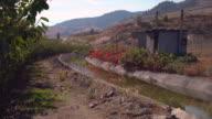 Okanagan Irrigation Canal, British Columbia 4K UHD video