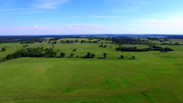 Oklahoma Farmland aerial video video