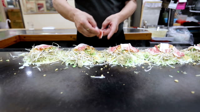 Okonomiyaki Japanese food video