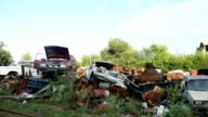 old abandoned landfill disposal vehicles cars video video