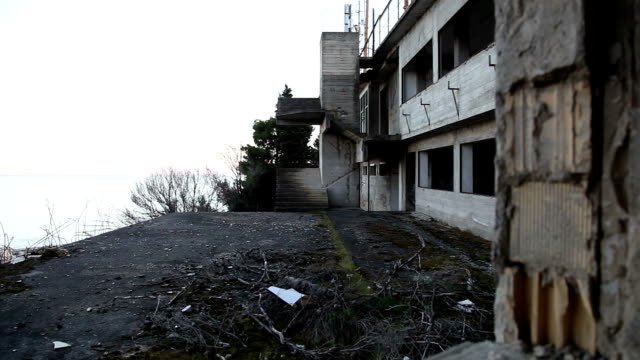 DOLLY: Old abandoned place remains video