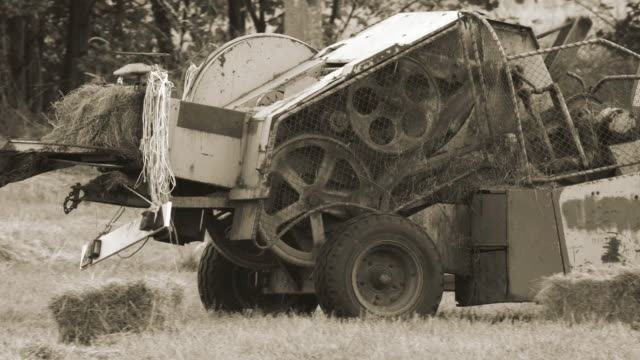 Old agriculture machine video