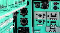 Old aircraft instruments panel video