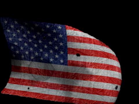 Old American Flag Waving video