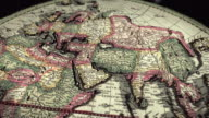 Old Ancient World Map Hendrik Hondius Dollying video
