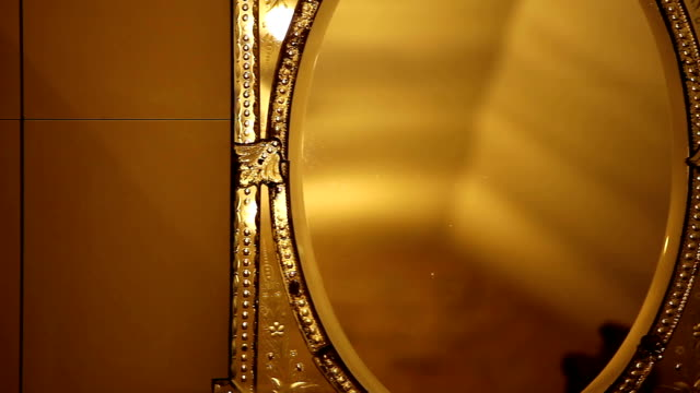 Old antique gold mirror video