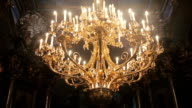 Old architectural church candle video