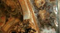 Old architectural church interior video