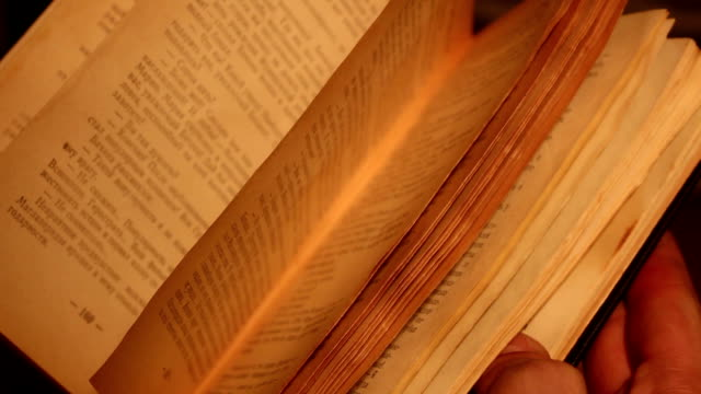 old book with open pages video
