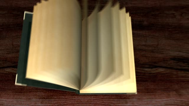 Old Books in library animation opening transition intro video