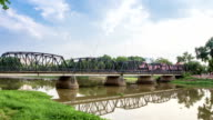 Old bridge in Chiang mai, Thailand. video