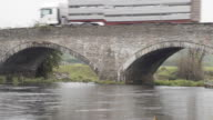 Old Bridge Over River Dee Near Corwen North Wales video