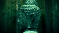 Old Buddha statue video
