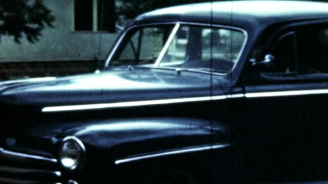 Old Car and Man (Archival Film) video
