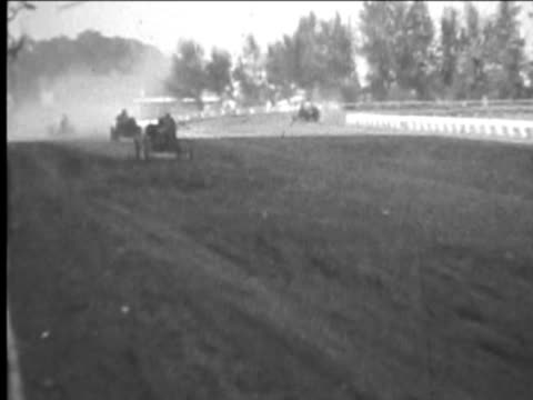 Old cars racing--From 1930's film video