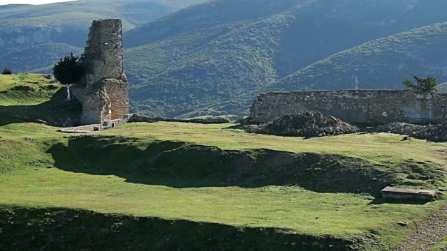 Old century medieval ruins under UNESCO protection video