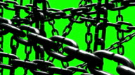 Old Chains Abstract On Green Chroma Key video