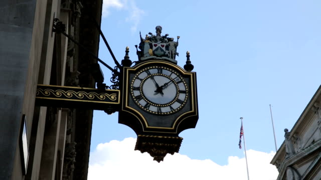 old clock and architecture near bank station london video