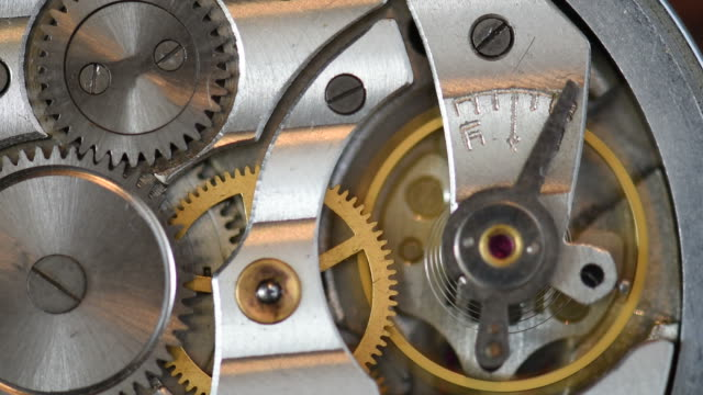 Old clock mechanism working video