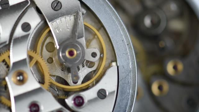 Old clock mechanism working video