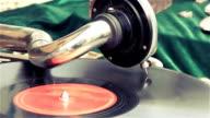 Old dusty vinyl player video