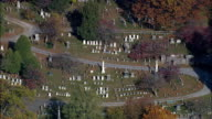 Old Dutch Church And Cemetery - Aerial View - New York,  Westchester County,  United States video