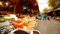 Old Eastern Bazaar with Traditional Southwestern Asia Food Ufra video