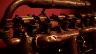 Old engine close-up video