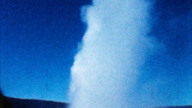 Old Faithful Geyser, Yellowstone Park (Archival 1950s) video