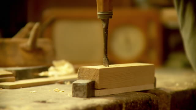 HD: Old Fashion Carpentry video