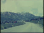 Old Film of Countryside and Mountains: North America or Europe video