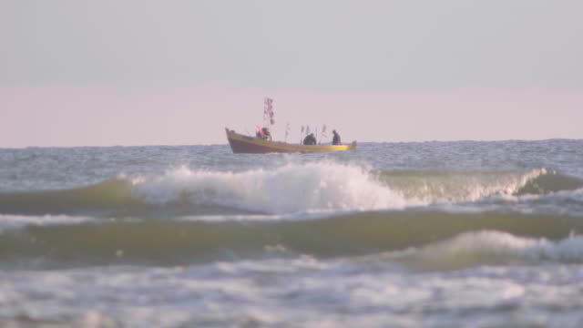 old fishing boat on sea video