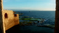 Old fort at the seaside. Sunset video