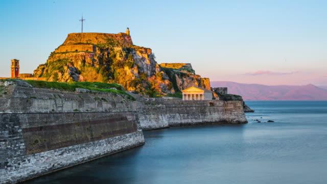 Old fortress of Kerkyra, Corfu island, Greece video