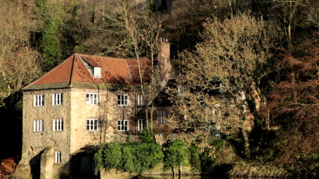 Old Fulling Mill, Durham, tilting up to the Cathedral video