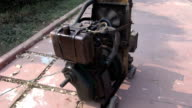 old Gasoline powered portable electric  generator in Agra, India video