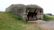 Old German bunker in Omaha Beach video
