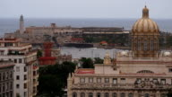Old Havana, View of Morro Castle and Museo de la Revolucion (former Presidential Palace) video