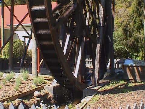 Old historic waterwheel video