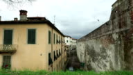 Old home buildings in Lucca,Italy video