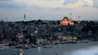 Old Istanbul in prayer time video