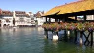 Old Lucerne bridge video