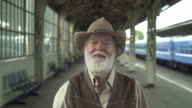 Old Man In Greeting Takes Off His Hat video
