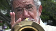 Old Man Playing Trumpet video