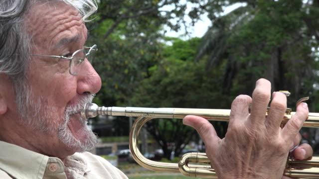 Old Man Playing Trumpet video